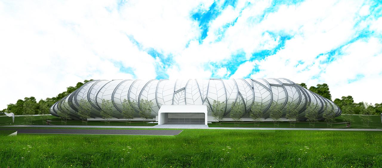 budipradono architects athletic stadium banyuwangi