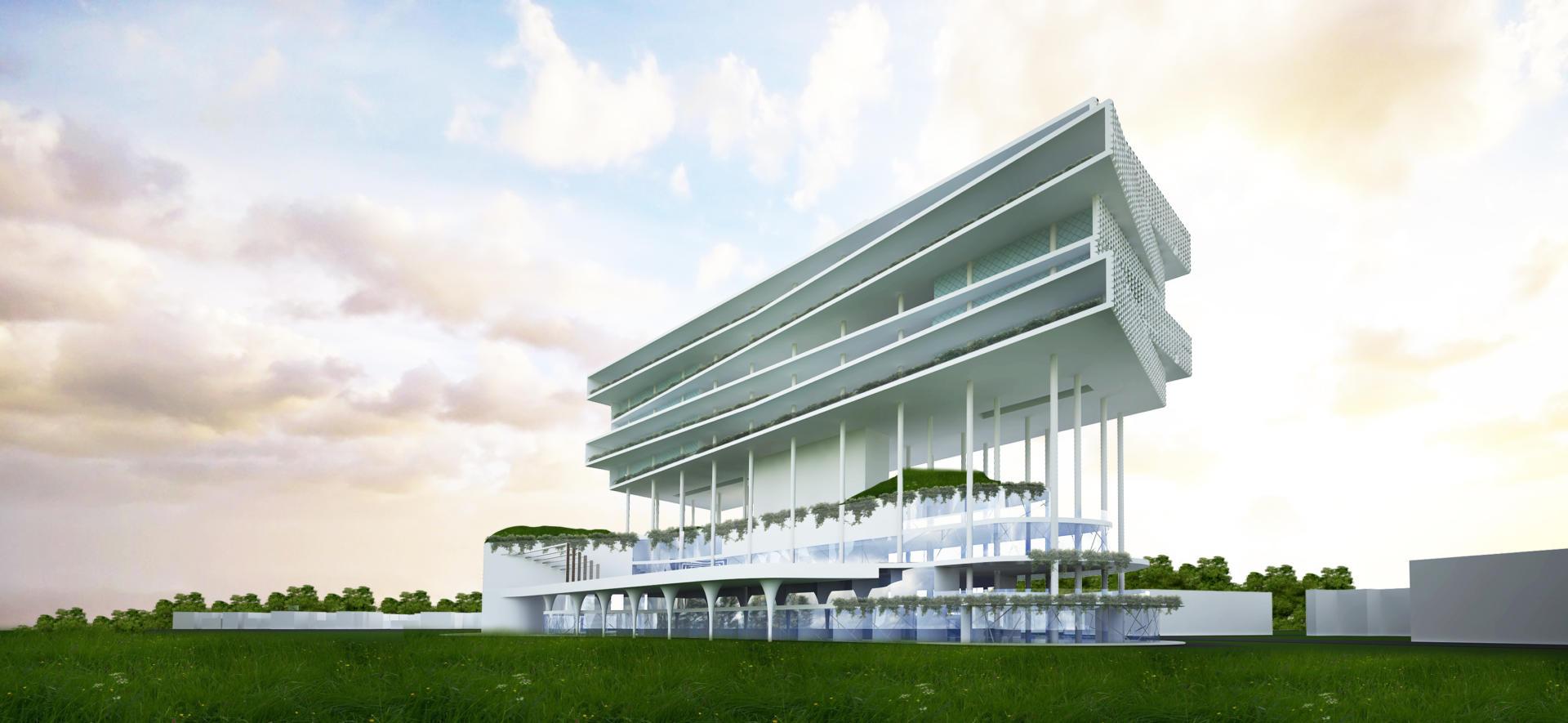 budipradono architects rawamangun golf & hotel