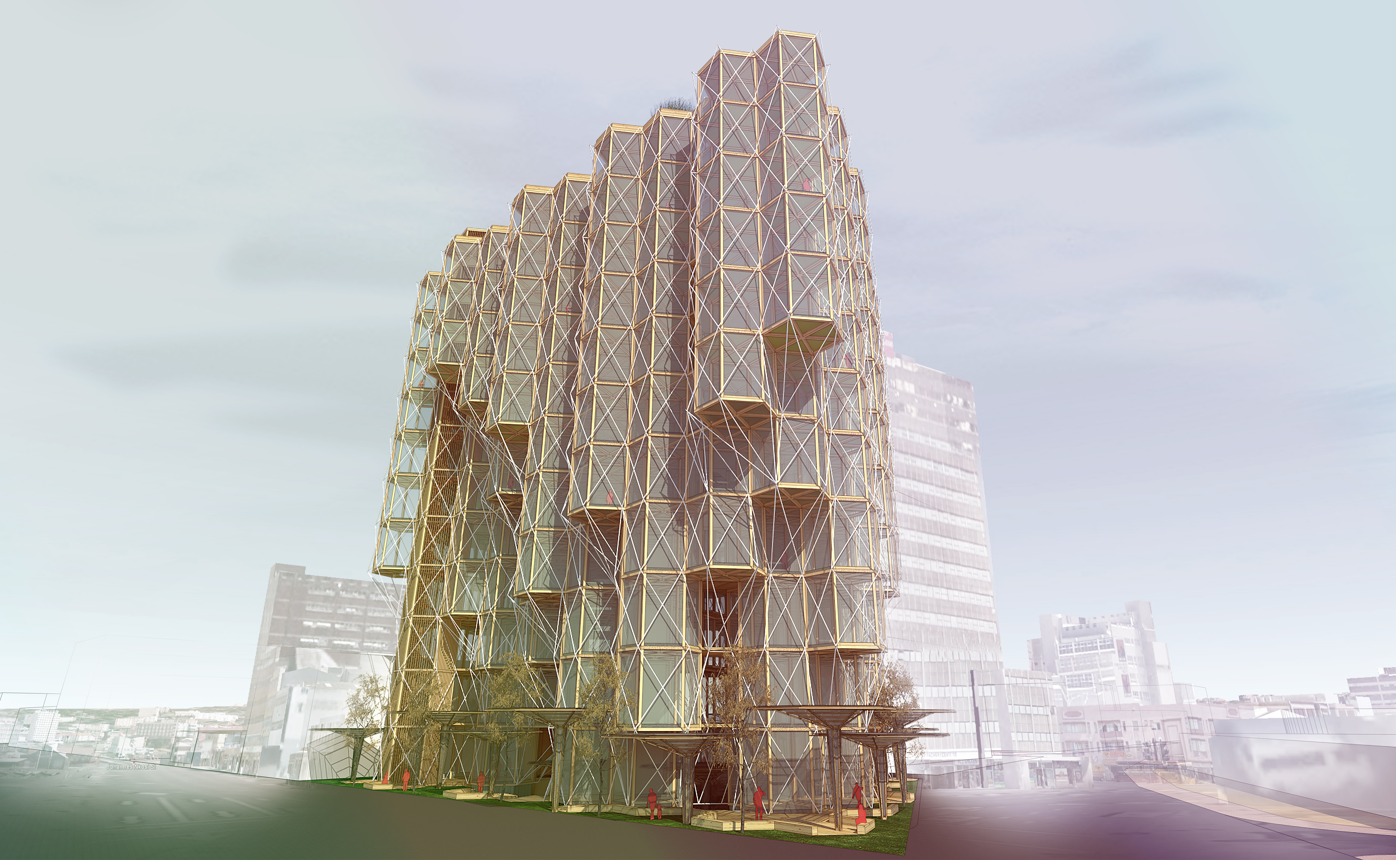 budipradono architects nusa wood tower