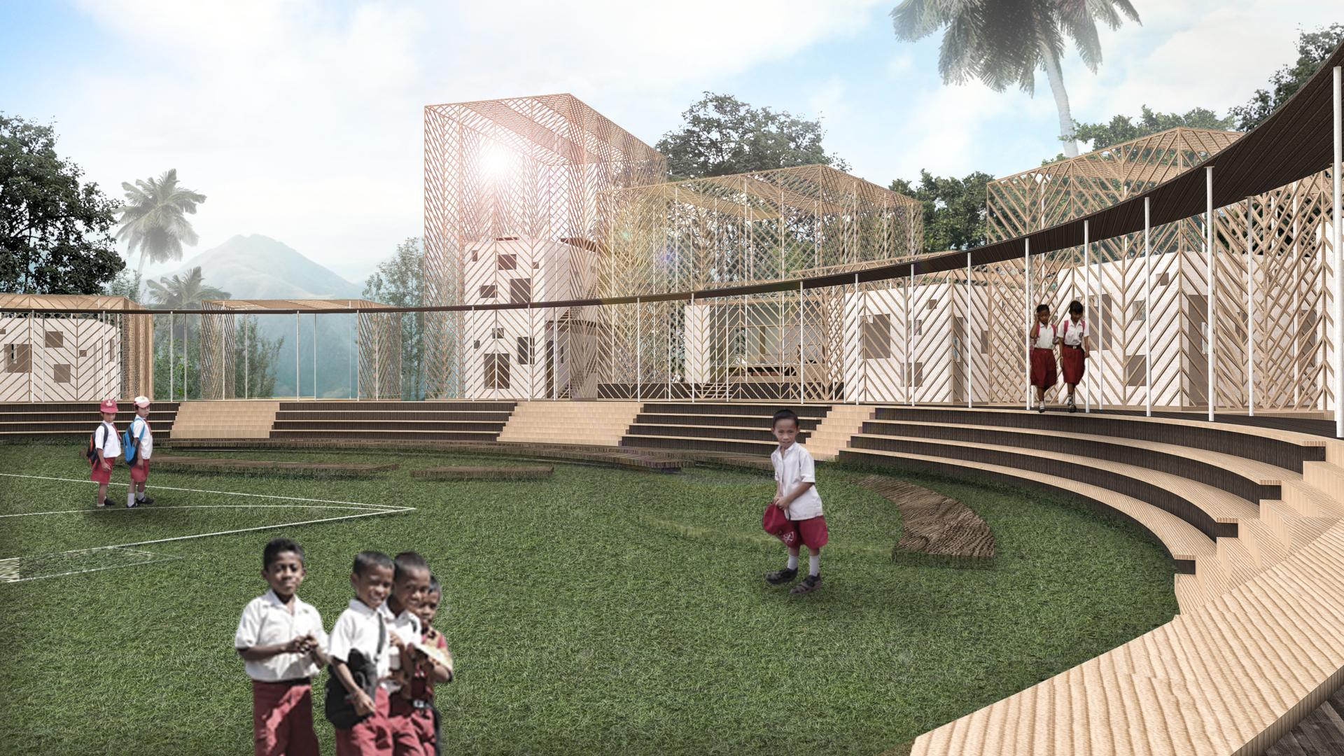 budipradono architects morotai school